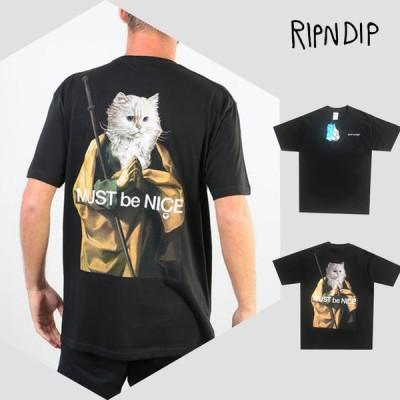 RIPNDIP リップンディップ Tシャツ メンズ レディース 半袖 大きいサイズ 綿100% 猫 ネコ 数量限定