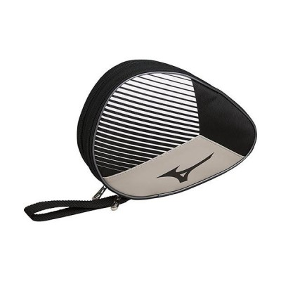 ミズノ(MIZUNO) メンズ レディース 卓球 ラケットソフトケース 2本入れ ブラック×ホワイト 83JD0002 90 ラケットバッグ 2本収納