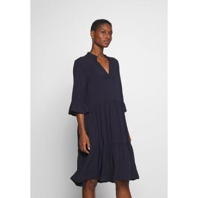 サントロペ ワンピース レディース トップス EDASZ SOLID DRESS - Day dress - blue deep