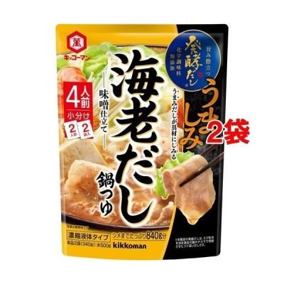 キッコーマン 発酵だし 海老だし鍋つゆ ( 340g*2袋セット )/ キッコーマン