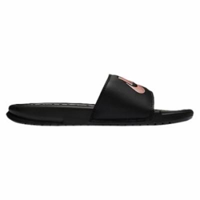 ナイキ レディース サンダル Nike Benassi JDI Slide スリッパ Black/Rose Gold/Black