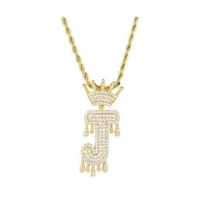 HECHUANG Initial Letter Pendant Necklace for Women Men Gold Name Necklace G