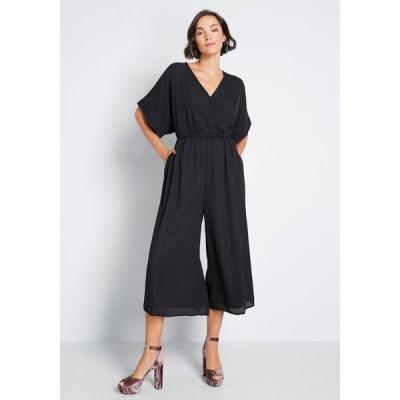 モドクロス ModCloth レディース オールインワン ジャンプスーツ ワンピース・ドレス arrive and thrive wide-leg jumpsuit black