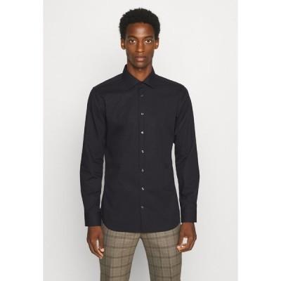 サイデンステッカー シャツ メンズ トップス MODERN KENT X SLIM - Formal shirt - black