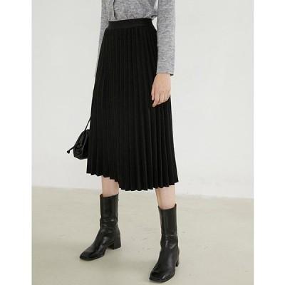 スカート 【Fano Studios】プリーツニットスカート FD20B008