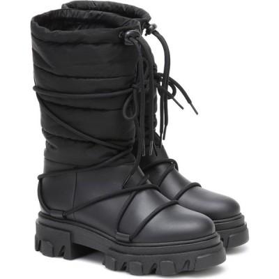 ガニー Ganni レディース ブーツ スノーブーツ シューズ・靴 Leather-Trimmed Snow Boots Black
