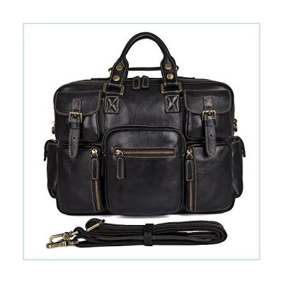 Genda 2Archer Men's Multi-Pocket Leather Messenger Briefcase 16-inch Laptop Bag並行輸入品