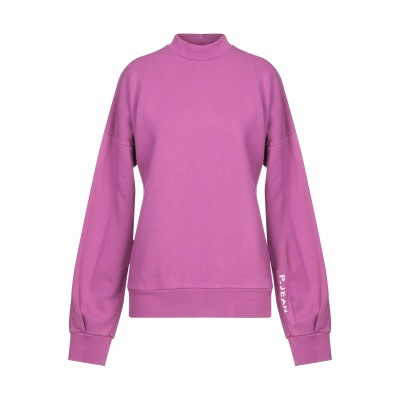 P_JEAN スウェットシャツ モーブ S コットン 100% スウェットシャツ