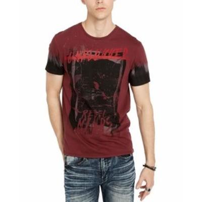 buffalo バッファロー ファッション トップス Buffalo David Bitton Mens T-Shirt Red Size Large L Abstract Graphic Tee
