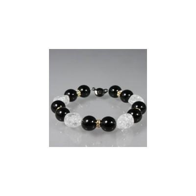 天然石 ブレスレット  オニキス & 水晶: 92