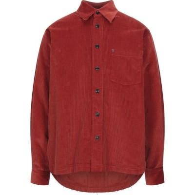 DNL メンズ シャツ トップス Solid Color Shirt Rust