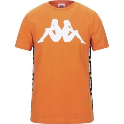 カッパ KAPPA メンズ Tシャツ トップス T-Shirt Orange