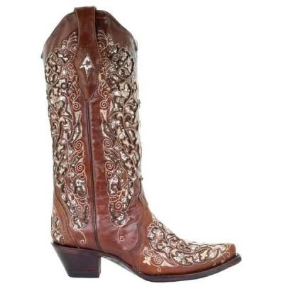 コーラルブーツ レディース ブーツ・レインブーツ シューズ Sequins Snip Toe Cowboy Boots