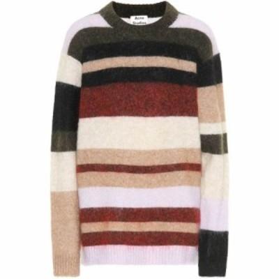 アクネ ストゥディオズ Acne Studios レディース ニット・セーター トップス Striped wool-blend sweater Olive/Red Multi