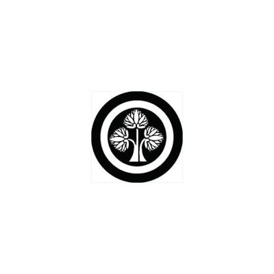 家紋シール 本田忠勝 丸に立ち葵 直径10cm 丸型 白紋 2枚セット KS10M-2915-02W