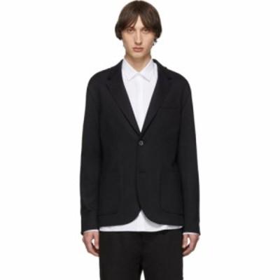 ランバン Lanvin メンズ スーツ・ジャケット アウター black double-faced jersey blazer Black