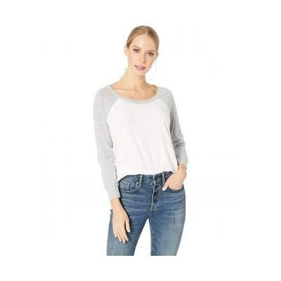 LAmade エルエーメイド レディース 女性用 ファッション Tシャツ Ricky Baseball Tee - White
