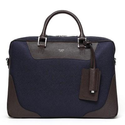 ブリーフバッグ 軽い メンズ ブランド 鞄 ブルー ネイビー 青色 おしゃれ 日本製 ビジネス ペッレモルビダ
