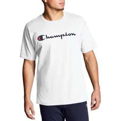 チャンピオン Champion メンズ Tシャツ トップス Script Jersey Graphic T-Shirt White