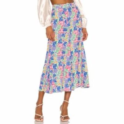 フェイスフルザブランド FAITHFULL THE BRAND レディース ひざ丈スカート スカート Valensole Midi Skirt Jemima Floral