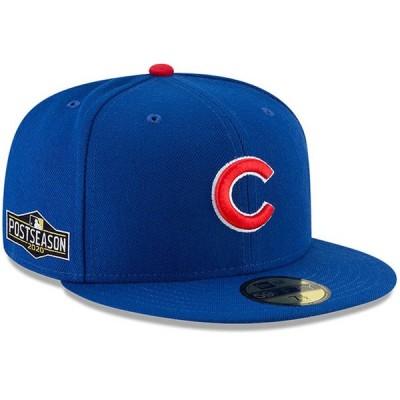 カブス キャップ 帽子 MLB ニューエラ New Era 59FIFTY ブルー 2020ポストシーズンサイドパッチ