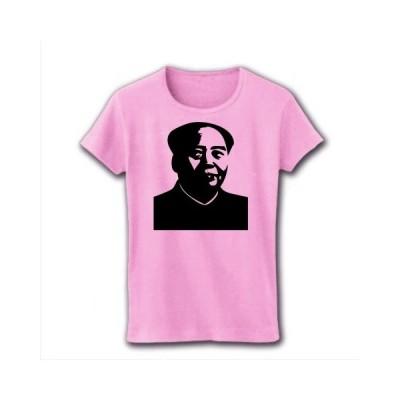 毛沢東 リブクルーネックTシャツ(ライトピンク)