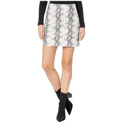 カップケーキアンドカシミア レディース スカート ボトムス Ramona High-Waist Snake Faux Leather Skirt