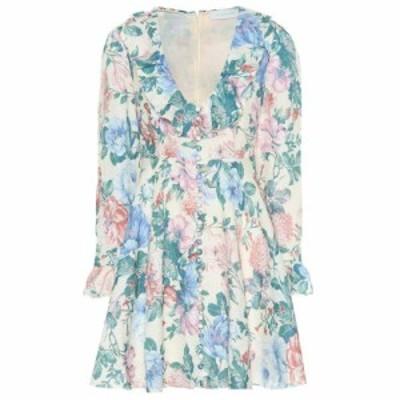 ジマーマン Zimmermann レディース ワンピース ワンピース・ドレス Verity floral linen minidress Cream Floral