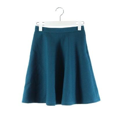 【中古】ジャスグリッティー JUSGLITTY スカート フレア ミニ 青緑 0 /DK54 レディース 【ベクトル 古着】