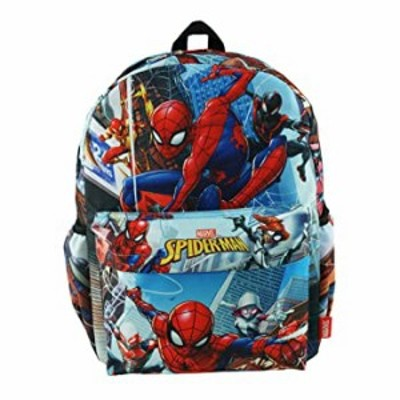 """Spider-Man Deluxe Oversize Print Large 16"""" Backpack with Laptop Compartment - A17704"""