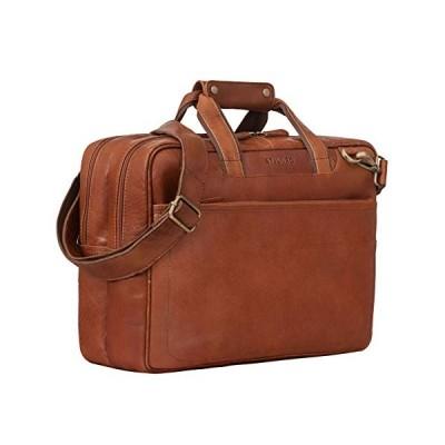 STILORD 'Astor' Vintage Leather Satchel Bag Shoulder Bag for Men Women Business Briefcase for Laptop Attachable to Trolleys Genuine Leather, Colour:ma