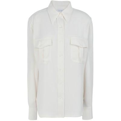 カルバン クライン CALVIN KLEIN シャツ アイボリー 36 ポリエステル 100% シャツ