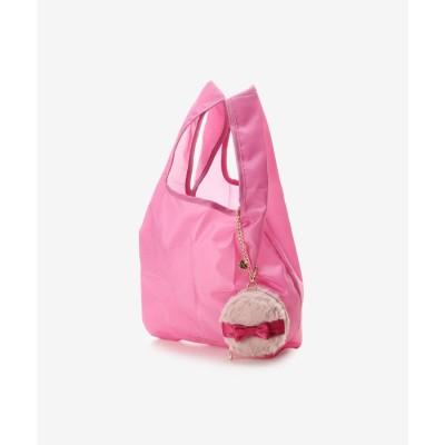 サマンサタバサプチチョイス Samantha Thavasa Petit Choice パフポーチ付き エコバッグ (ピンク)