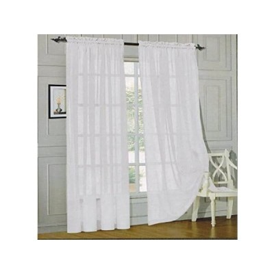 Elegant Comfort voile84 Window Curtains Sheer Panel with 2-Inch Rod Pocket,
