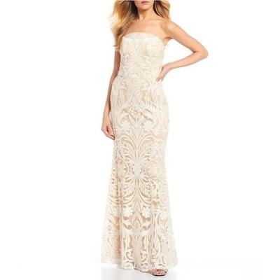 ミッドナイト ドール レディース ワンピース トップス Strapless Sequin Pattern Trumpet Dress