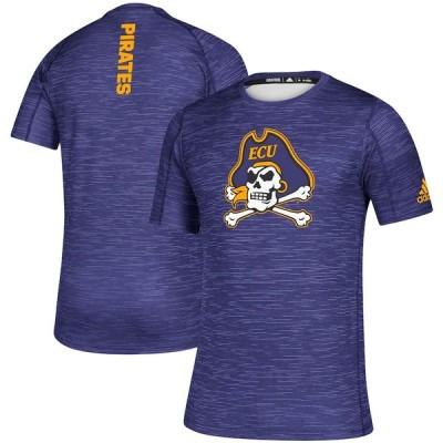 """メンズ Tシャツ """"ECU Pirates"""" adidas Game Mode Training climalite Sideline T-Shirt - Purple"""