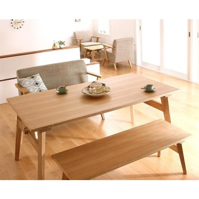 ダイニングテーブルセット 4人用 ダイニングベンチ ソファセット ダイニングセット 天然木 北欧 3点セット(Bタイプ)