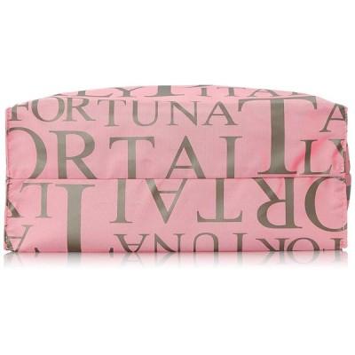 PORTA FORTUNA(ポルタフォルトゥーナ) 角型 ロゴプリントショッピングバッグA4対応 1563-01ピンク