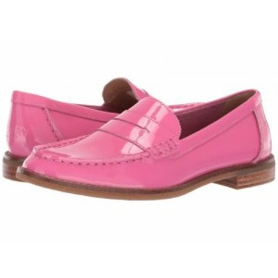 Sperry スペリー レディース 女性用 シューズ 靴 ローファー ボートシューズ Seaport Patent Penny Loafer Pink【送料無料】