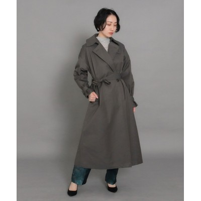 AULI / 【低身長向けサイズ】オーバーサイズロングトレンチコート WOMEN ジャケット/アウター > トレンチコート