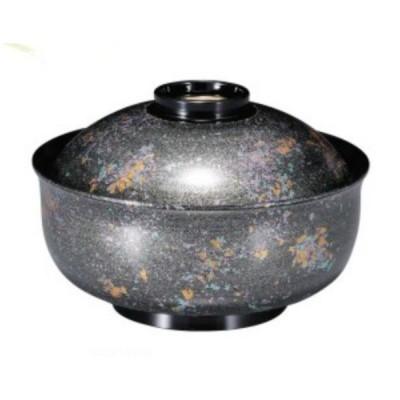 煮物椀 5寸 ゆり型煮物椀 銀光彩高台内金ライン 耐熱ABS樹脂 食洗機対応 f6-253-1