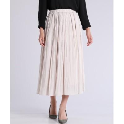 【マルシェ ド クリアインプレッション/MARCHE de CLEAR IMPRESSION】 ロングプリーツスカート