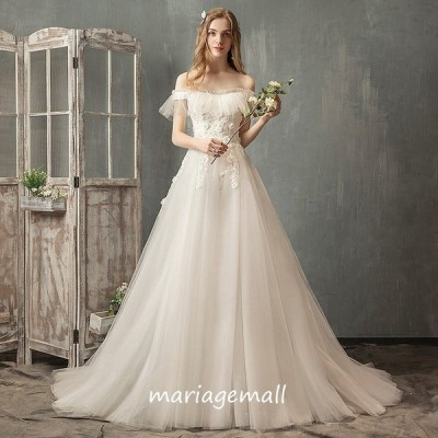 ウエディングドレス 花嫁 白 ロングドレス 結婚式 二次会 aライン 大きいサイズ ブライダル パーティードレス 海外挙式 披露宴 演奏会