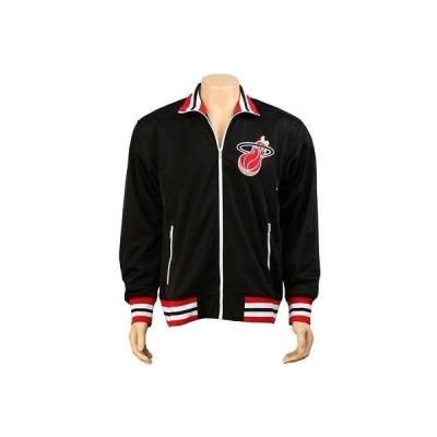 アクティブウェア ジャケット メンズ ミッチェルアンドネス Mitchell And Ness Miami Heat NBA Preseason Warm Up Track Jacket (black)