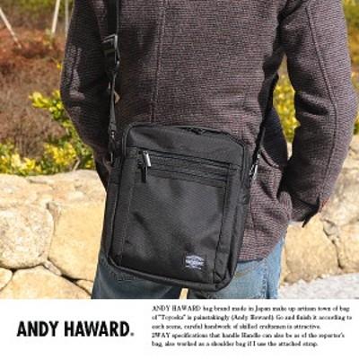 ANDY HAWARD 縦型ミニショルダーバッグ No.33628 ミニショルダーバッグ メンズ ポリエスター 縦型 ANDY