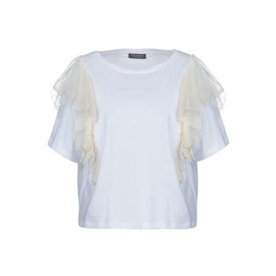 ツインセット シモーナ バルビエリ TWINSET T シャツ ホワイト S コットン 100% T シャツ