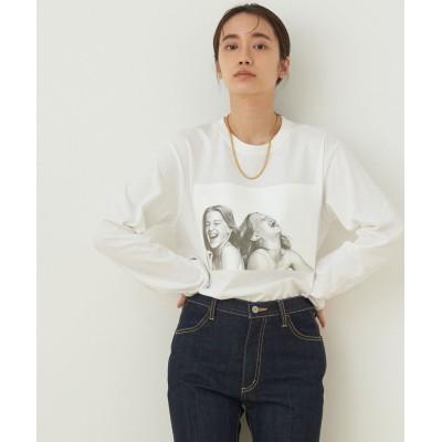 アダム エ ロペ ファム/【JIM BRITT×10C】〈SISTERS〉Long Sleeve T-shirt/ホワイト/M