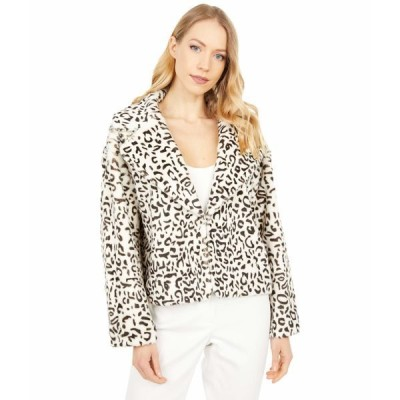 ラブトークン コート アウター レディース Gio Faux Fur Jacket Cheetah