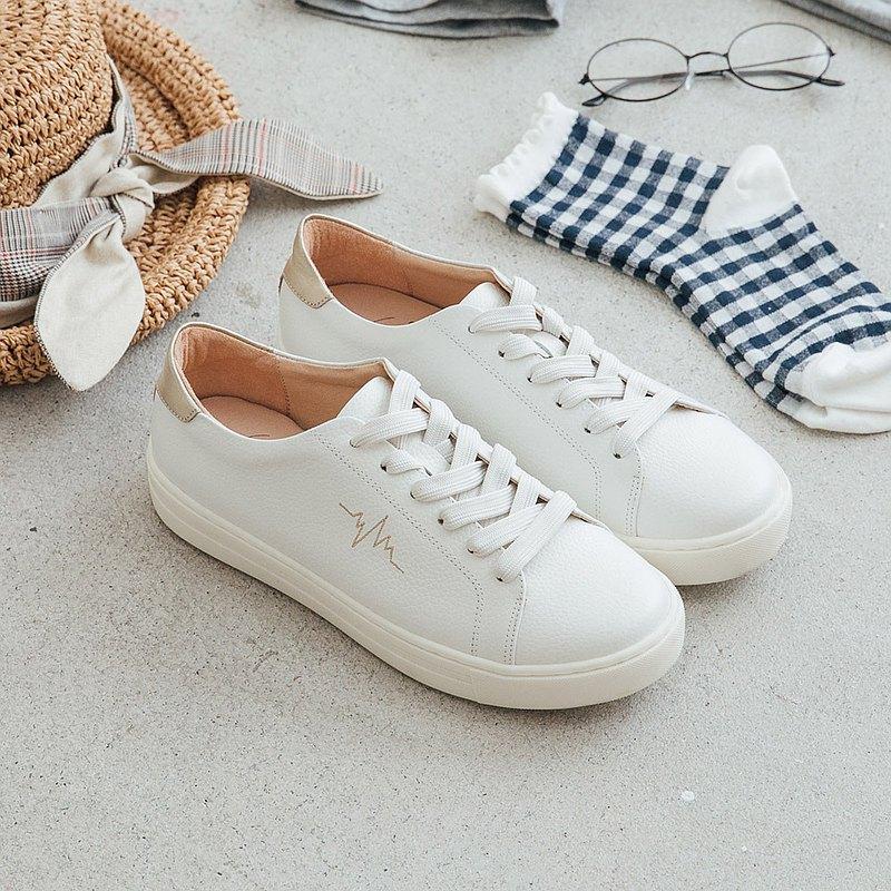 MIT全真皮舒芙蕾Soufflé裸感休閒鞋小白鞋Sneakers