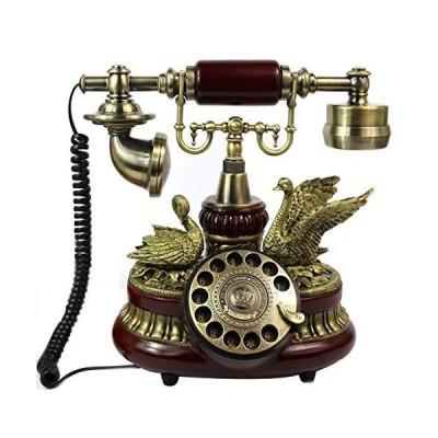 ZKS-KS Landline Telephone, Retro Vintage Antique Style Telephone, Rotary Dial, Retro Vintage Antique Style Telephone, Living Room Decor